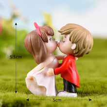 Load image into Gallery viewer, 2Pcs/set Cartoon Action Figures Toys Kiss Lovers Miniatures Mini Figures Fairy Garden Dollhouse Decoration Micro Landscape