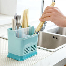 Load image into Gallery viewer, Grid Kitchen Storage Box Hollow Chopsticks Spoon Fork Drain Storage Rack