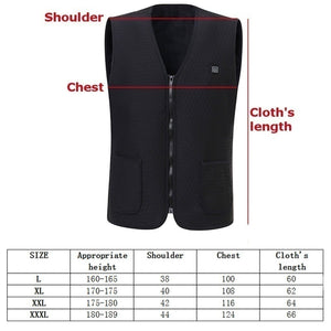 New Men's Smart Winter Electric Heating USB Sleeveless Vest Temperature Control Plus Smart Hot Vest