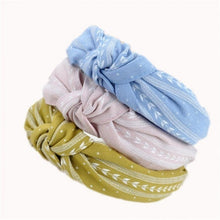 Load image into Gallery viewer, Women Fashion Elegant Cloth Knotting Fashion Leaves Wide Hairband Headband Hair Accessories
