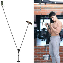 Load image into Gallery viewer, Pellor Foream Strength Exerciser Wrist Roller Forearm Weights Grip Workout with Pulley