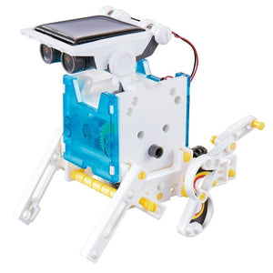 New 14-in-1 Solar Power Transforming Robot Kit Educational Toy