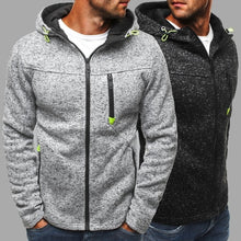 Load image into Gallery viewer, New Autumn and Winter Men's Hoodies Contrast Color Slim Thickened Fleece Hoodies