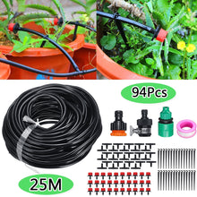 Load image into Gallery viewer, 10/15/20/25M 13/62/94/165Pcs DIY Garden Micro Drip Irrigation System Hose Kits Plant Flower Watering Sprinkler Patio Water Mister