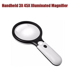 Load image into Gallery viewer, 3X Waterproof For Seniors Lens Newspaper Microscope Handheld Magnifier Magnifying Glass Led Light Jewelry Watch Loupe
