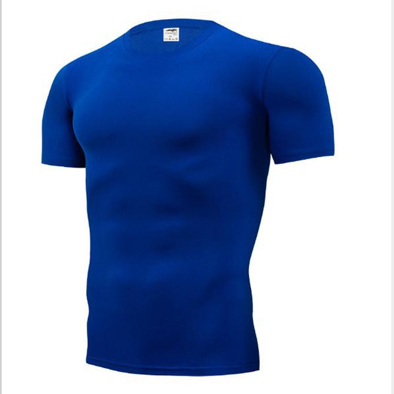 Men Skinny Bodybuilding Compression T Shirts Quick Dry Undershirt