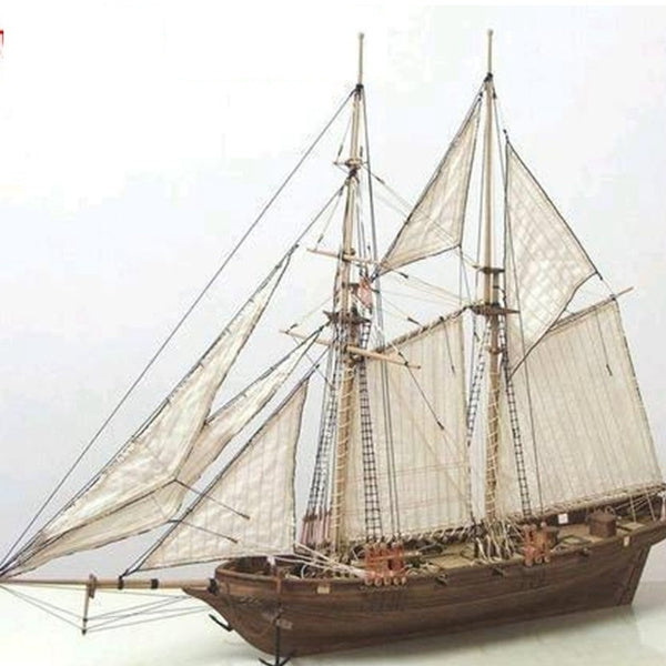 High Quality  Wooden Wood Sailboat Ship Kits Home DIY Model Decoration Boat Gifts Toy for Kids