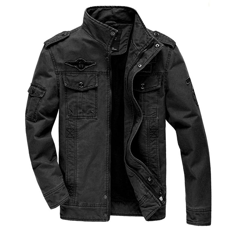 Men's Jacket Leisure Special Soldier Military Uniform Large Code Flight Suit Outdoor Sports Tooling Coat
