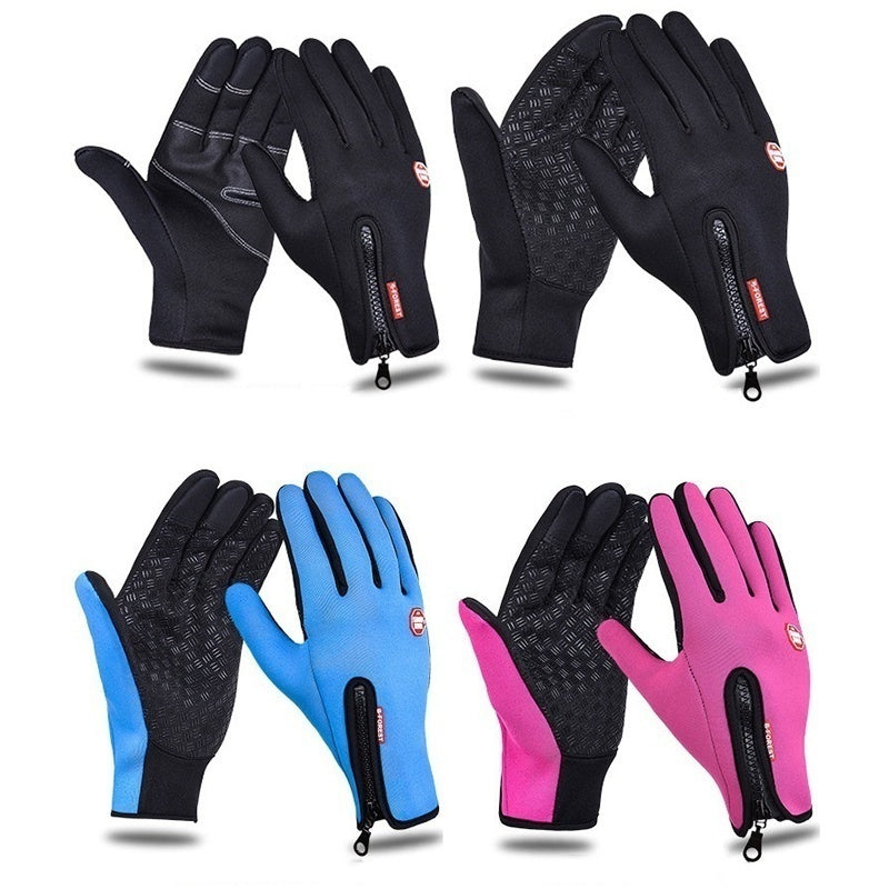 1PR Waterproof Winter&autumn Windproof Bikes Gloves Touch Screen Sports Glove