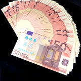 100pcs Copy 10/20/50/100/200/500 EUR EURO Fake Paper Money Bank EUR Training Collect Learning Banknotes EUR Magic toos Props Play Money