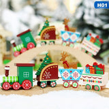 1Pcs Christmas Wood Train Pendant For Home Little Train Popular Wooden Train Decor Christmas Ornaments New Year Supplies  Christmas Decoration