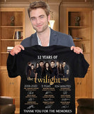 12 Years of The Twilight Saga Thank You for The Memories Signature Shirt s-5xl