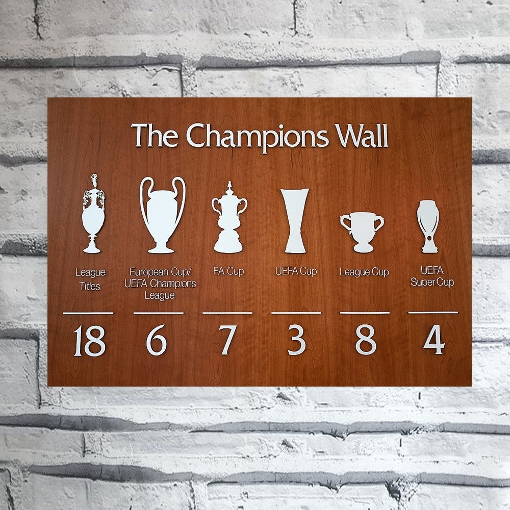 Tin Poster The Champions Wall Liverpool Football Club Abstract Vintage Tin Sign Home Pubs & Bars Poster Wall Art Poster Coffee Garden Office Man Cave Club Metal Tin Sign