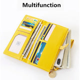Vintage Women RFID Leather Wallet Large Capacity Long Purse Zipper Wallet Phone Pocket Card Holder Coin Purse