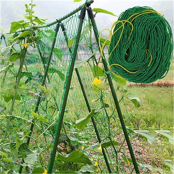 Garden Green Nylon Trellis Netting Support Climbing Bean Plant Nets Grow Fence