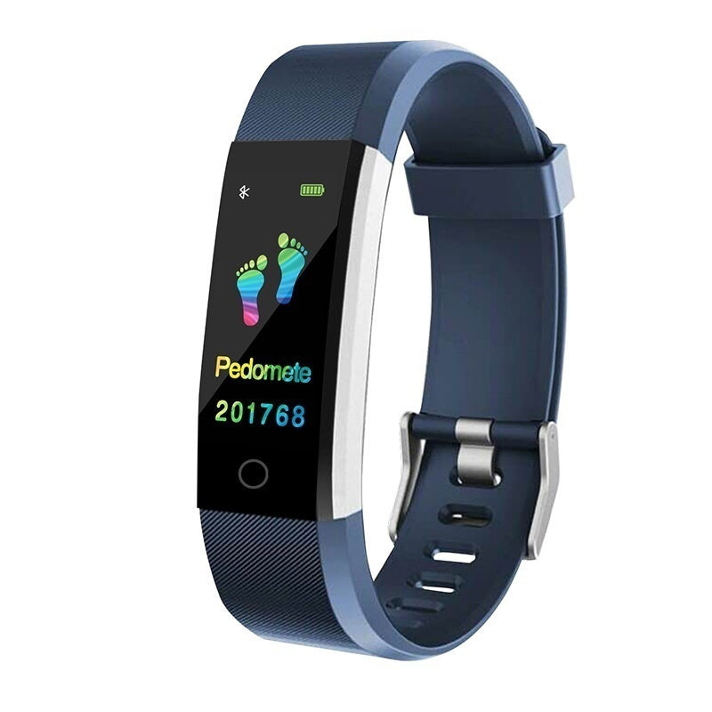 Color Screen Smart Bracelet Sports Pedometer Activity Tracker Watch IP67 Waterproof Fitness Running Walking Tracker Heart Rate Blood Pressure Monitor Smart Band for IOS Android