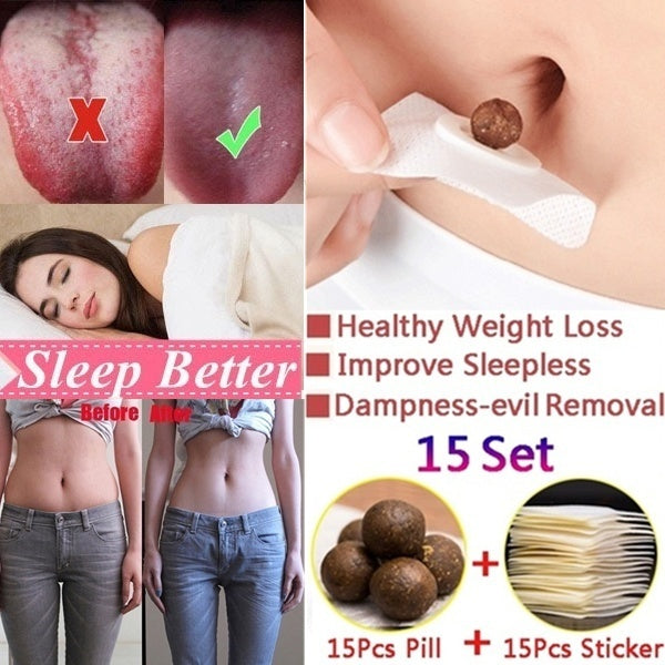 15sets /30sets/45 Sets/60sets/ Healthy Weight Loss Navel Stick Quick Slim Patch Pads Clearing Damp Dispelling Evil Ai Navel Paste Weight Loss Abdominal Paste To Improve The Cold Uterus Menstruation Detox Adhesive Sheet Weight Loss Burning Fat Patch Popul