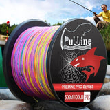 PULLINE 500M Multicolor Optional 4-strand Braided Fishing Line 6LB-100LB PE Multi-filament Braided Wire Fishing Accessories