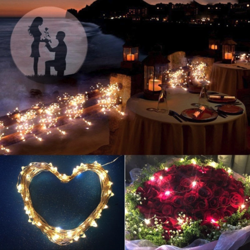 Solar String Lights Outdoor, 20m 200 LED Solar Powered Fairy Lights Waterproof Decorative Lighting for Patio Garden Yard Party Wedding