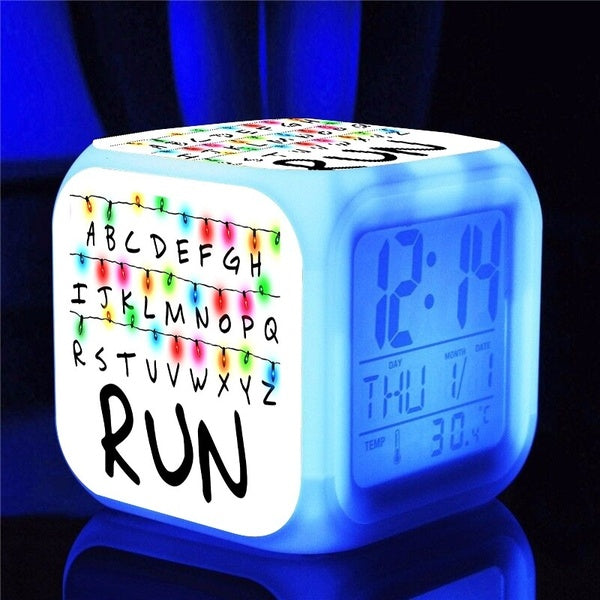 Stranger Things Alarm Clock LED Light Alarm Clock Cartoon Clock Boys Girls Alarm Clock Toys