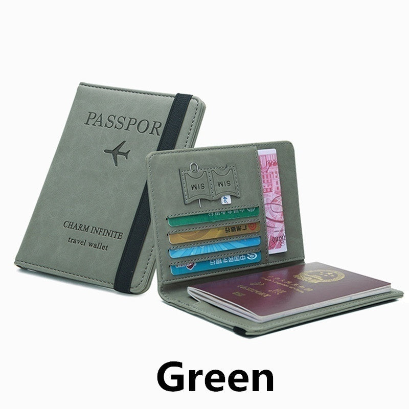 2020 New RFID Multifunction Wallet Ultrathin Passport Card Holder Travel Unisex Wallet