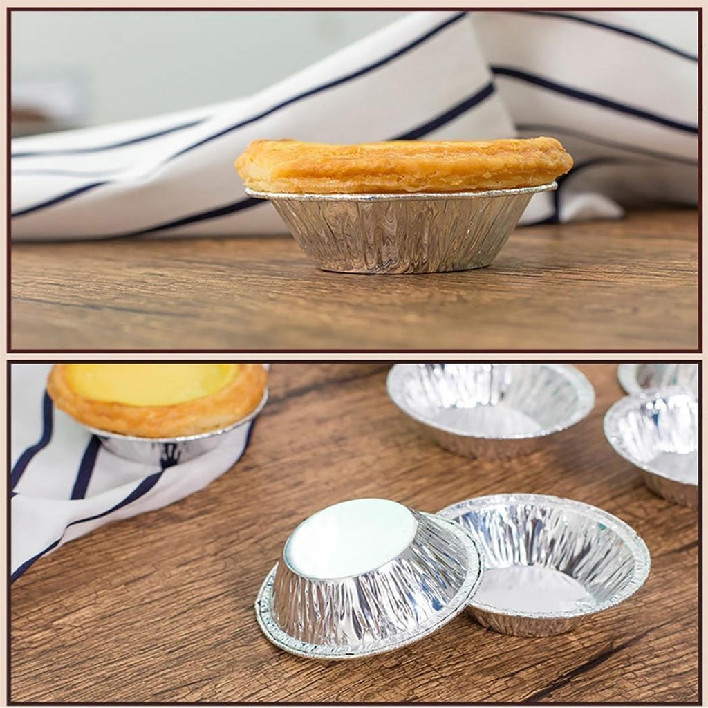 100pcs Practical Disposable Egg Tart Mould Cake Mould Home Baking Mould