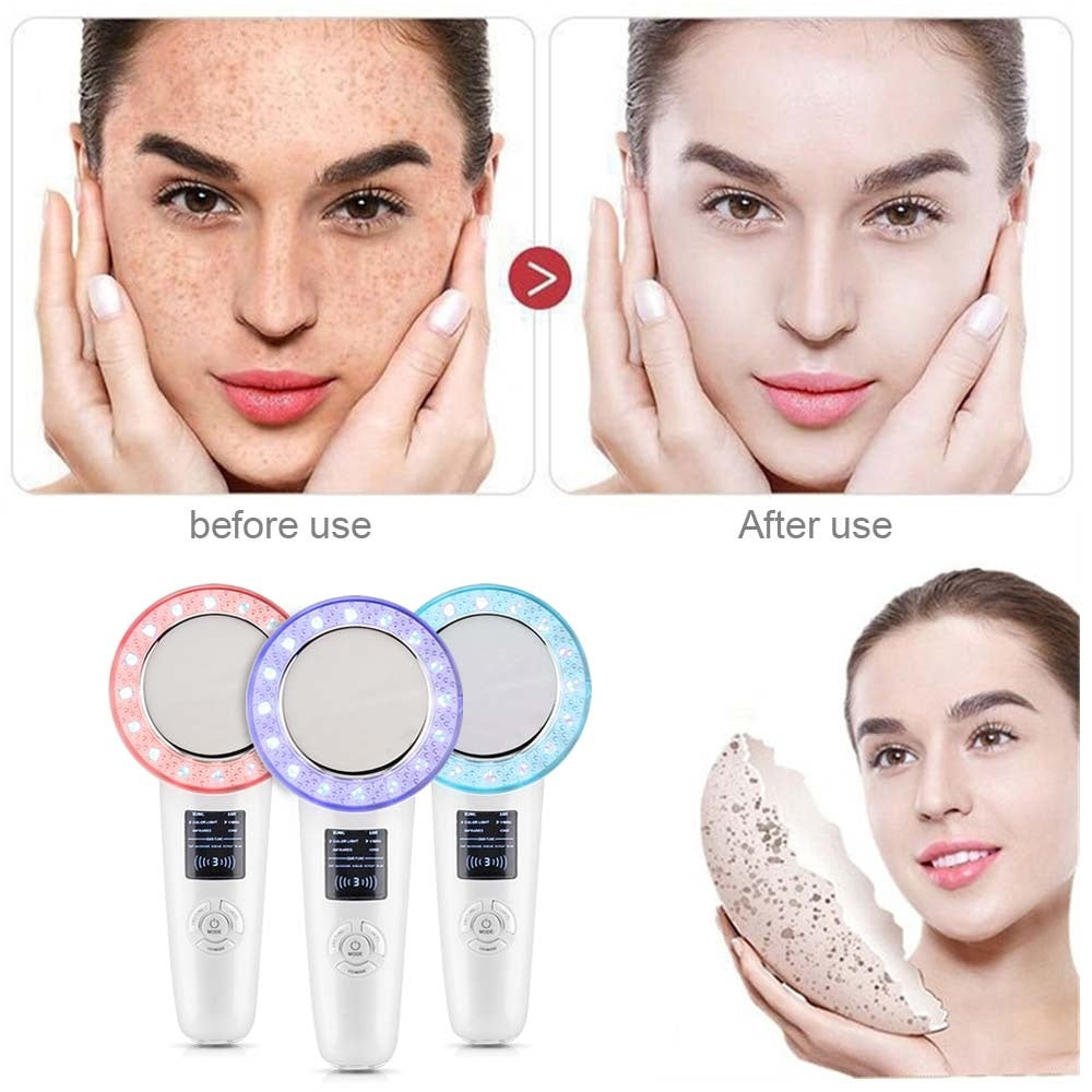 6-in-1/3-in-1 EMS Galvanic Ion Face Beauty Machine Infrared Ultrasonic Body Slimming  Fat Burner Massage Tool EMS Galvanic Ion Face Beauty Machine Infrared Ultrasonic Body Slimming  Fat Burner Massage Tool