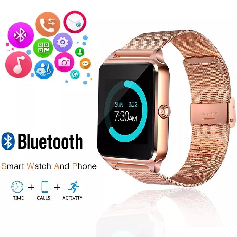 Z60 Bluetooth Smart Watch Clock With Sim TF Card Slot Bluetooth Connectivity for Smartphones