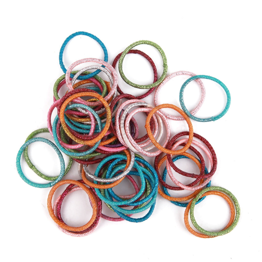 100pcs/Set Bag Packed Girls Cute Colorful Elastic Hair Bands Gum For Ponytail Holder Scrunchie Headband Fashion Hair Accessories