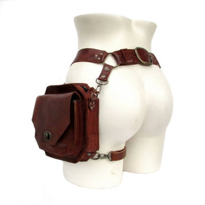 Steampunk Leather Fanny Pack Vintage Handmade Leather Waist Bag Fashion Hip Bag Medieval Leather Utility Belt Bag Fantasy Leather Purses Larp Cosplay Accessories