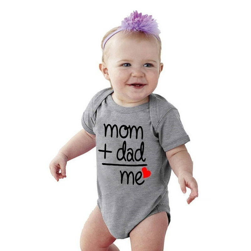 Mom Plus Dad Equals Me Cute Bodysuit Baby Shower Gift Baby Clothes Baby Apparel Toddler Shirts Newborn Announcement New Baby Reveal