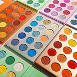DE'LANCI Makeup Eyeshadow Palette 15 Color Matte Shimmer Pigmented Glitter Eye Shadow Palette Rainbow Neon Make Up Palette