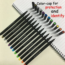 Load image into Gallery viewer, 12 Colors Set 0.38MM Fine Liner Colored Marker Pens Watercolor Based Art Markers For Manga Anime Sketch Drawing Pen Art Supplies