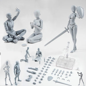 New Arrivel 15cm / 20cm Figures Jointed Doll Model Man Woman Nude / Gray Painting Artist Sketch Human Model