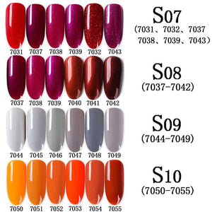 7ML Hot Sale 6pcs Colors Set Gel Nail Polish Nail Art Kits Nail Gel Polish UV LED Soak-Off Primer Series Gel Lacquer