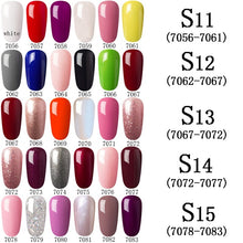 Load image into Gallery viewer, 7ML Hot Sale 6pcs Colors Set Gel Nail Polish Nail Art Kits Nail Gel Polish UV LED Soak-Off Primer Series Gel Lacquer