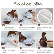 Load image into Gallery viewer, Fashion 7 LED Changing Color Cool Mist Wood Grain Ultrasonic Purifier Aromatherapy Humidifier USB Essential Oil Diffuser Home Decor