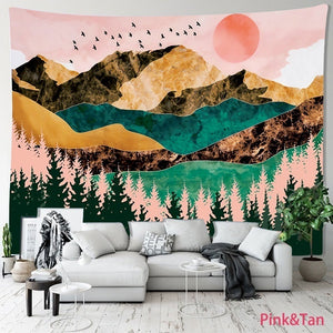 150*130cm/200*150cm Fashion 3d Printed Landscape and Kaleidoscope Tapestry Funny Wall Hanging Tapestry Design Wall Art