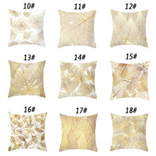 Load image into Gallery viewer, (Single-Sided Printing)Simple Gold Leaf Polyester Pillowcases Throw Pillow Cases Sofa Home Decor (45cm X 45cm )