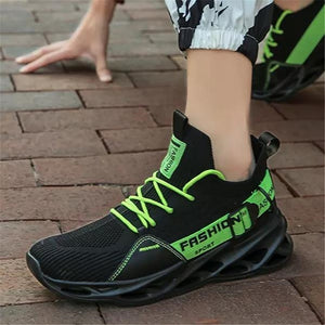 Men's Breathable Flying Weave Running Sneakers Fashion Casual Printing Mesh Outdoor Lightweight Shoes