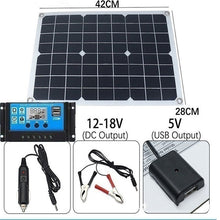 Load image into Gallery viewer, Upgraded 400W Solar Panel with 10-60A PWM Solar Panel Charging Controller for RV Marine LCD Display