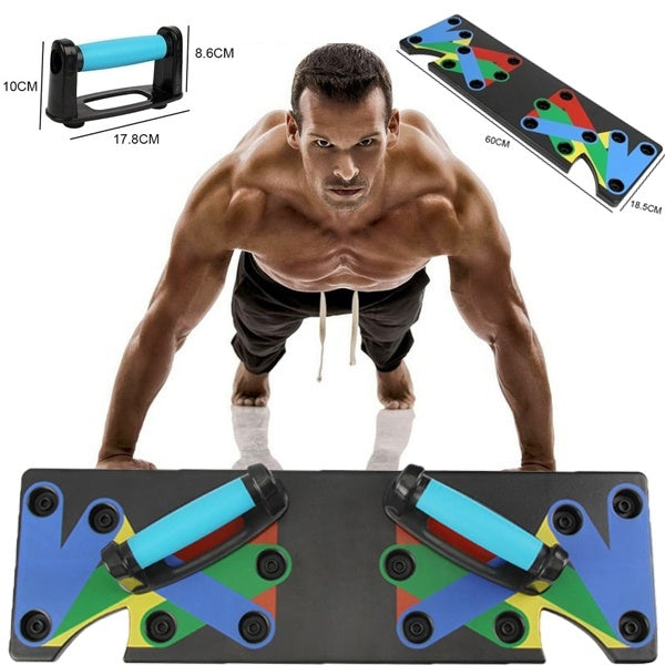 9 in 1 Push Up Rack Board System Fitness Workout Train Gym Exercise Stands Body Building Rack
