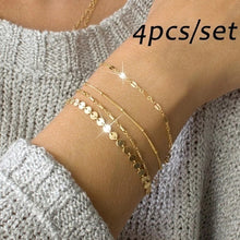 Load image into Gallery viewer, 4pcs/set Jewelry New Wild Alloy Double-sided Wear Finger Bracelet Jewelry Gifts