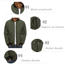 Load image into Gallery viewer, 6 Colors Plus Size S-3XL Autumn and Winter Men Puffer Jacket Coat Plaid Cotton-padded Clothes