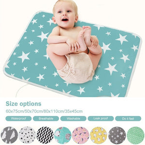 Baby Infant Washable Diaper Nappy Urine Mat Kid Waterproof Bedding Changing Pads Covers