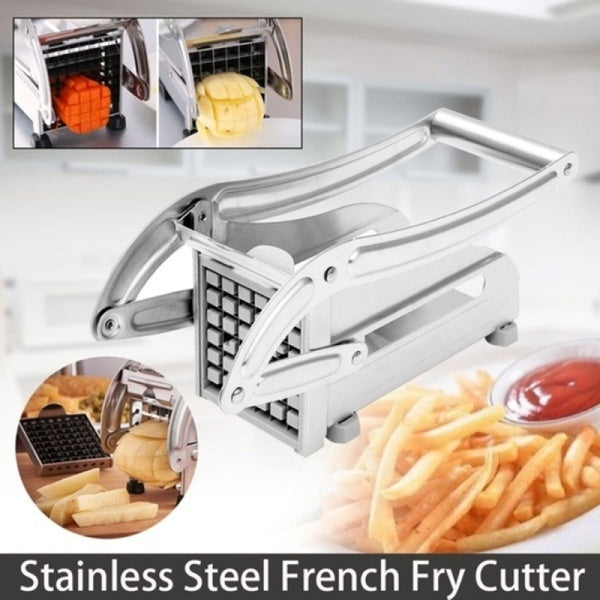 Stainless Steel Household Potato Chipper Vegetable and French Fry Cutter French Fry Chips Slicer Chopper Cutter