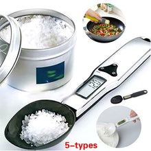 Load image into Gallery viewer, 5-types 500g/0.1g Electronic LCD Digital Spoon Weight Scale Gram Kitchen& Lab Scale