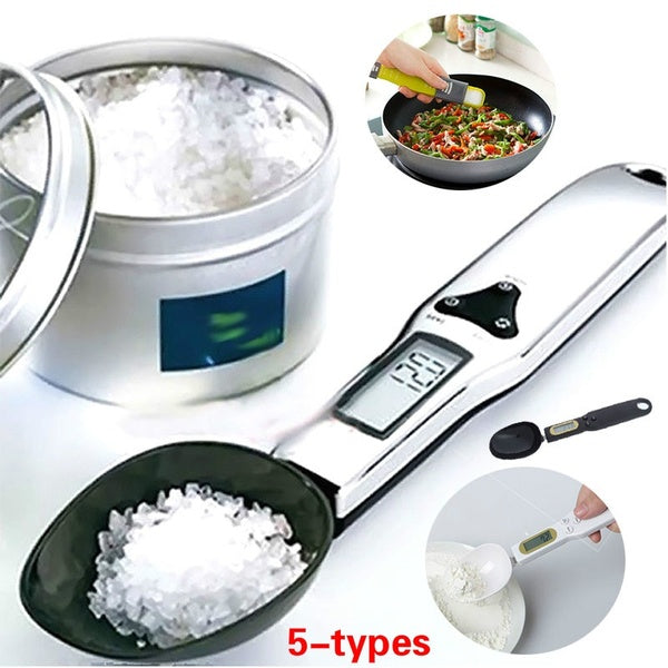 5-types 500g/0.1g Electronic LCD Digital Spoon Weight Scale Gram Kitchen& Lab Scale
