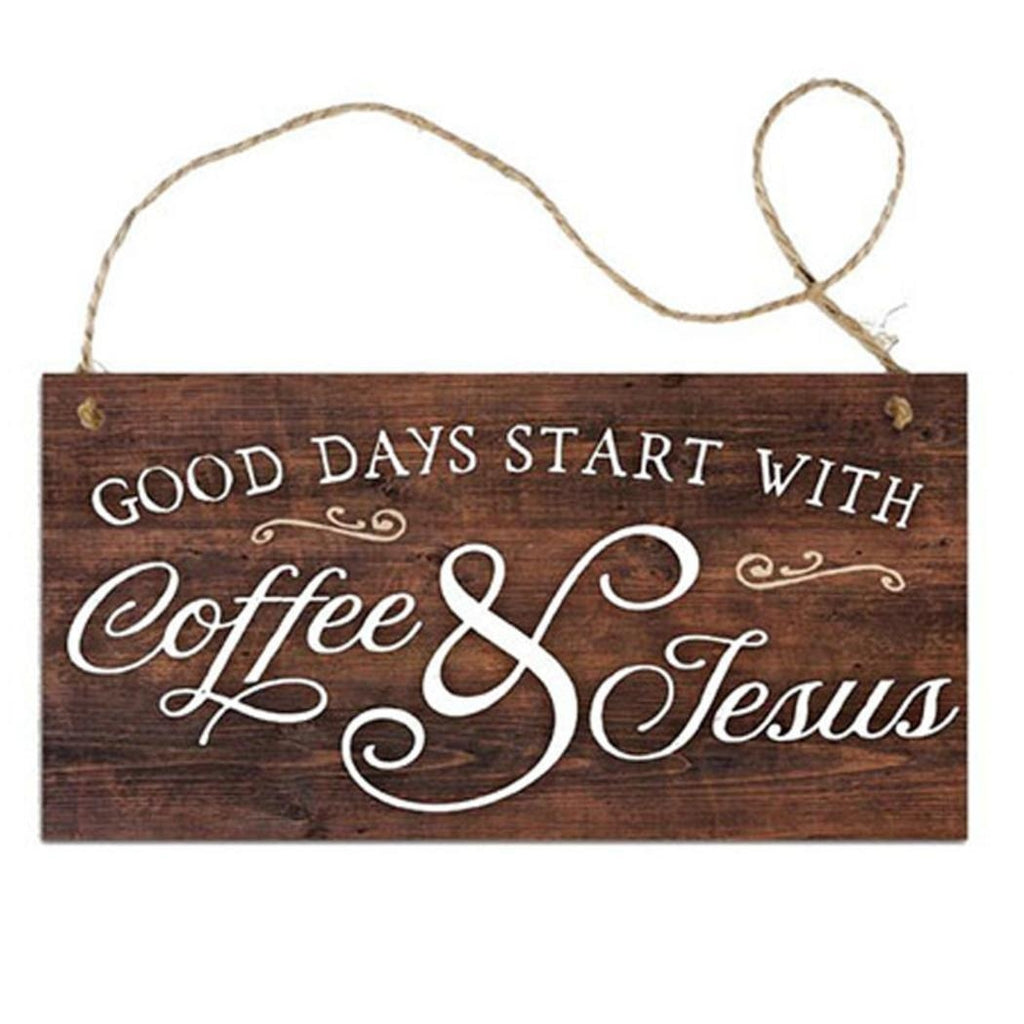 12 Kinds of Coffee Signs Wooden Hanging Board Plaques Gift Coffee Bar Decoration