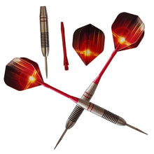 Load image into Gallery viewer, 3 Pcs 24g Stainless Steel Darts Set Professional Stainless Needle Tipped Dart Aluminum Shafts Flashing Pattern Standard Flights for Dartboard